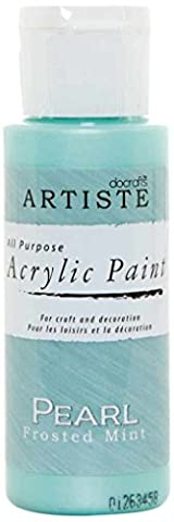 Docrafts Artiste Hohe Qualität Farbe, plastik, Pearl Frosted Mint, 3.4 x 3.4 x 9.9 cm