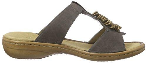 Rieker 60847, Chaussures de Claquettes femme Gris (stromboli / 45)