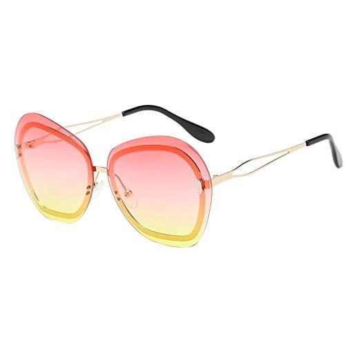 Junecat Unisex Gradient Lens Metal Sonnenbrille Frauen Männer Anti-UV Brillen Reisen Angeln Sun Glasses