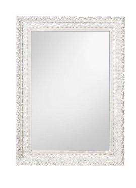 Specchiera di legno bianca stile vintage con fregi L'ARTE DI NACCHI NT-29