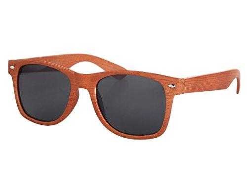 Sonnenbrille Holzoptik Nerdbrille Holz Kunststoff Holzlook von Alsino, wählen:V-1243-5