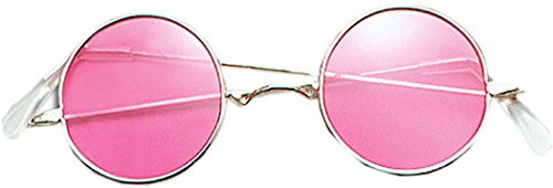 Ozzy Kostüm Osbourne - Kostüm Zubehör 70er Jahre Hippy Dude Ozzy Osbourne John Lennon Brillen Rosa