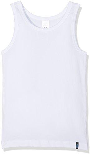 Schiesser Jungen Unterhemd 95/5 Tank, Weiß (Weiss 100), 176 (Herstellergröße: L) (Tank Pyjama Top)