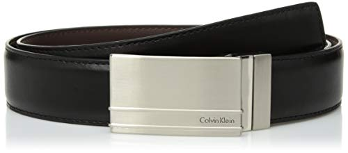 Calvin Klein Men's 32MM REVERSIBLE W/ STITCHED F.EDGE Accessory, -black/brown, 36 -