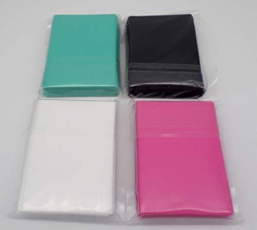 docsmagic.de 4 x 60 Mat Card Sleeves Small Size 62 x 89 - Black White Mint Pink - Yu-Gi-Oh! Cardfight - Mini Kartenhüllen -