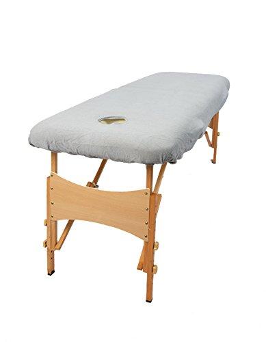 TowelsRus Aztex Tapa de sofá de masaje de valor clásico con agujero de cara púrpura, Stretchy Polycotton