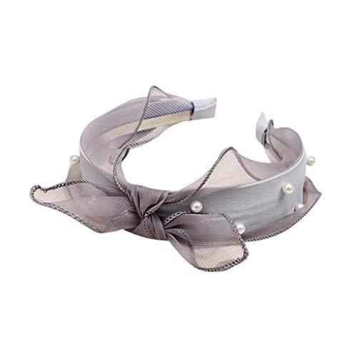 PPWOMEN Haarschmuck - Mode Samtschleife Knoten Haarband Damen Haar Kopf Band süßes Mädchen Haar Stirnband (Schwarz, Eine Größe)