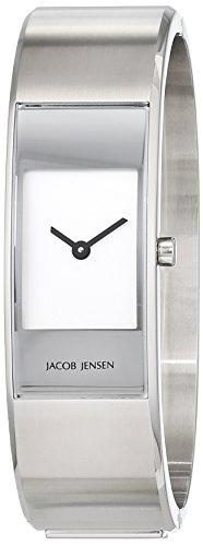Jacob Jensen Damen Analog Quarz Uhr mit Edelstahl Armband 32450