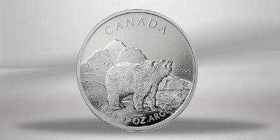 KANADA / CANADA Silbermünze 5 $ KANADISCHE SILBERDOLLAR