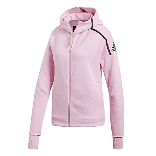 adidas Damen Z.N.E. Fast Release Hooded Trainingsanzug Jacke ZNE Heather/True Pink m