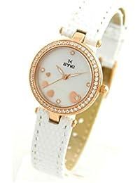 Eyki Femme MONTRE2579 - Reloj , correa de cuero color blanco