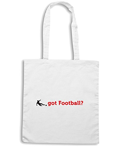 T-Shirtshock - Borsa Shopping WC0380 Got Football Bianco