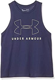 Under Armour Women's Sportstyle Graphic Muscle Tank Shirt, Blue(Blue Ink/Yellow Haze), Me