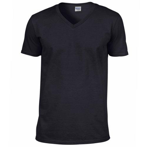 GILDAN Men's Soft Style V-Neck T-Shirt