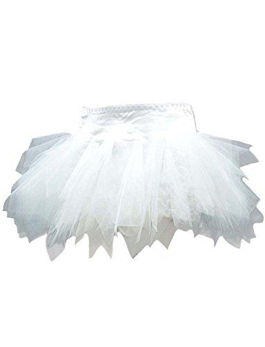 Yummy Bee Tutu Rock Burleskes Kostüm Damen Burlesque Größe 34 - 56 (Weiß, (Petticoat Kostüme Halloween)