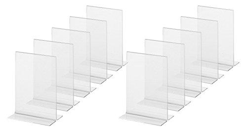 Sigel TA226 Tischaufsteller gerade, für A6, 10 Stück, glasklar Acryl - weitere Größen