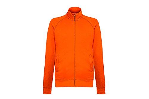 Fruit of the Loom Lightweight Sweat Jacket, Felpa Uomo Orange (Orange 44)