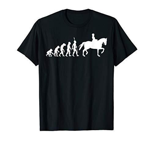 Dressurreiten Dressur Reiten Reiter Evolution T-Shirt Pferde