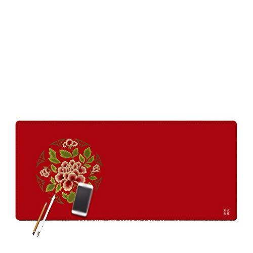 Preisvergleich Produktbild Luuruu Mauspad Erweiterte Mauspad Gaming Mouse Pad Matte Wasserfestes Mit Rutschfester Gummibasis Chinesische Wind Gestickte Tischmatte,  W