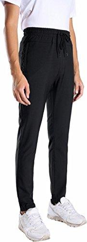 jeansian Uomo Asciugatura Rapida Sportivo Casuale Pantaloni Della Tuta Sports Sweatpants LSS183 Black