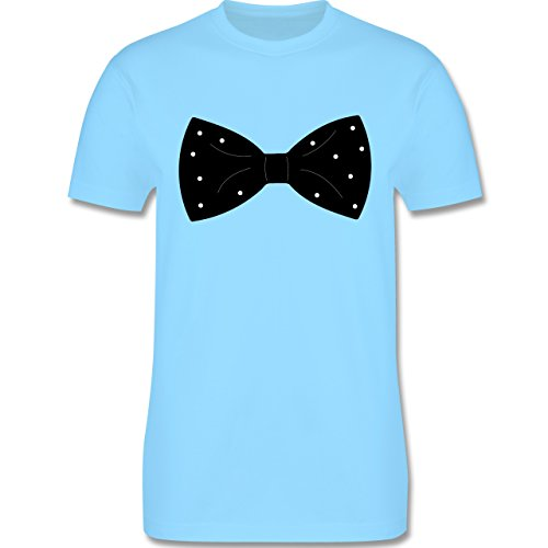 Lustige Sprüche und Motive - Fliege mit Punkten - L190 - Premium Männer Herren T-Shirt mit Rundhalsausschnitt Hellblau