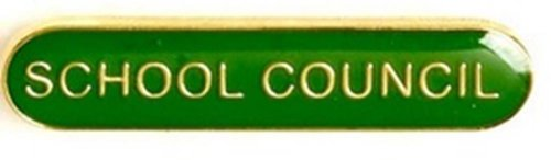 SCHOOL COUNCIL METAL PIN BADGE GREEN SB012G