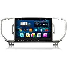 ZNYSTAR Android 6.0 sistema de navegación estéreo multimedia Navegación GPS coche coche estéreo de radio GPS para Kia Sportage 2016 2017 Reproductor de audio de coche con BT Radio GPS 3G Wifi Android Mirror link