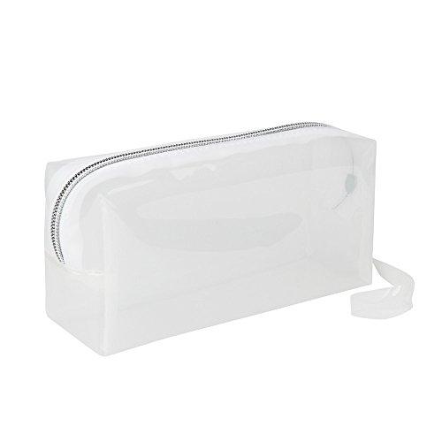 Covermason Niña Transparente Caja de lápices Estuches (Blanco)