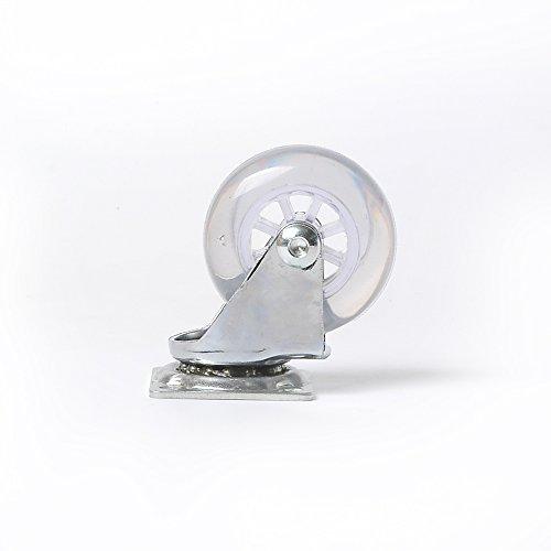 31aCdsExqoL - Ruedas Giratorias de Mueble Swift Transparente Con Placa de Montaje Juego de 4 40 mm