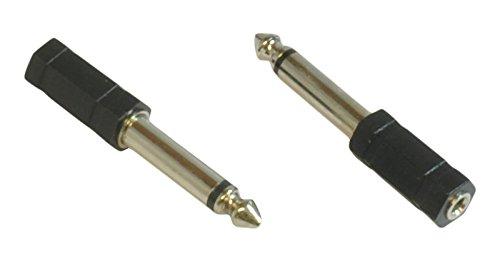 CDL, Adapter für 3,5mm-Micro-Stereo-Buchse zu 6,35-mm-Mono-Klinkenstecker, Audio-Kabel-Adapter
