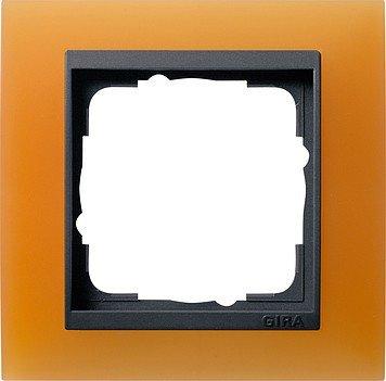 Gira 021187 Abdeckrahmen 1-fach für anthrazit Event opak, orange