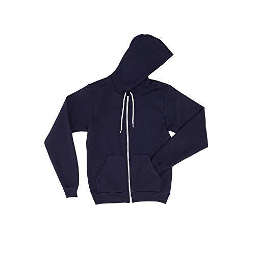 Authentische American Apparel (American Apparel Flex Fleece Zip Hoodie (F497) Blank Plain AA004 Gr. Medium, Navy)