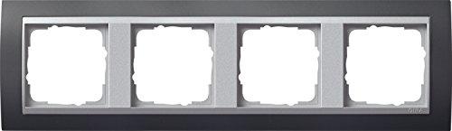 Preisvergleich Produktbild Gira 021481 Abdeckrahmen 4-fach Event anthrazit mit alu Zwischenrahmen