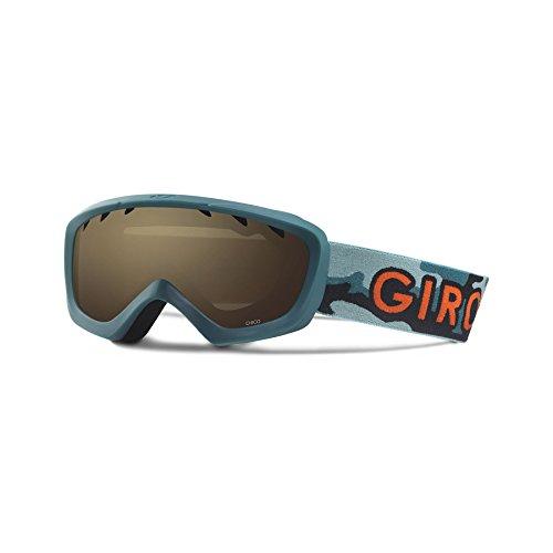 Giro Kinder Ski Snowboard Brille CHICO grün green hideout - amber rose