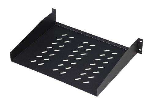 """Preisvergleich Produktbild DIGITUS Professional DN-19 TRAY-2-55-SW - Fachboden zum Festeinbau in 19"""" Schränke - Traglast 25 kg - ab 800 mm Schranktiefe - 2HE - Farbe schwarz"""