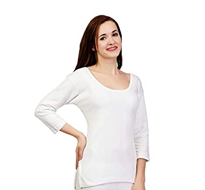 ZIMFIT Cotton Women's or Girls Winter wear Full Sleeves Thermal,Warmer Top in White Colour (Pack of 1)