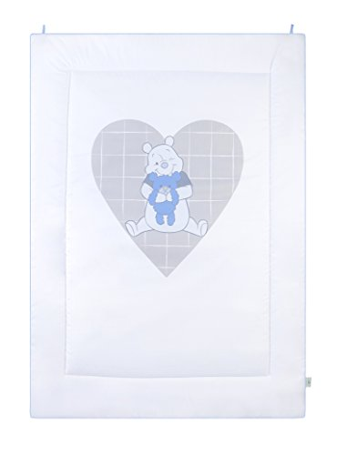 Julius Zöllner, Manta / alfombra gatear, razón: Winnie the Pooh-corazón, 95 x 135 cm, blanco (Weiss)