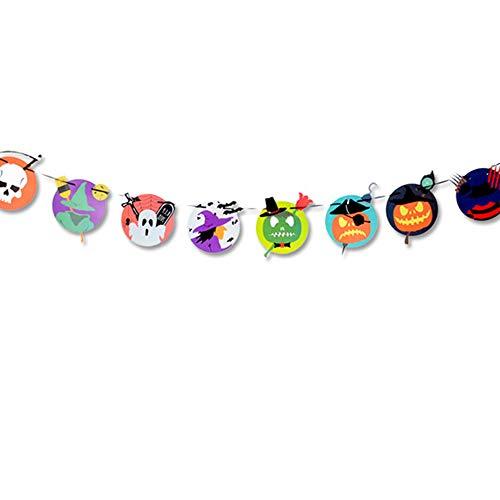 Halloween Banner Girlande DIY Kürbis Buchstabe Skelett Wimpelkette Party Innen-Dekorationen (5 PCS) (Halloween-dekorationen Für Innen Diy)