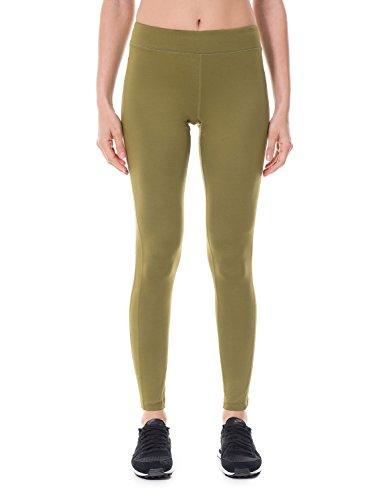 SYROKAN Femme Legging Longs de Sport Collant Capri Uni Lime Fitness Pantalon Vert olive