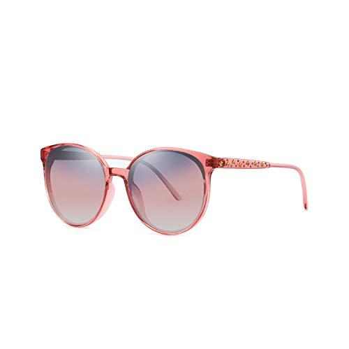 Sport-Sonnenbrillen, Vintage Sonnenbrillen, NEW Vintage Round Women Sun Glasses Polarisiert Brand Design Stars Decoration Sunglasses Brown Shades Eyewear UV400 Red
