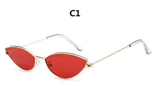 Passionate turkey Leidenschaftlicher Truthahn Retro Farbe kleine Ellipse Sonnenbrille Modedesigner Unisex Sonnenbrille Männer und Frauen kleine Bunte Katzenauge Sonnenbrille, c1