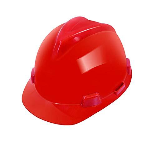 BYAQM Casco De Ingeniería De Plástico ABS, Casco De Construcción Casco De Seguridad De Cabeza De Alta Temperatura - Rojo, Amarillo, Azul, Blanco (Color : Red)