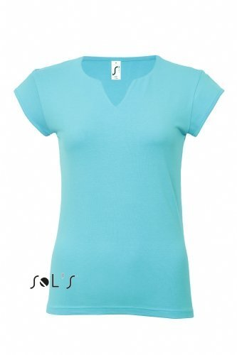 Tee Womens Cap Sleeve T-shirt (Sols Lady T-Shirt Women´s Cap Sleeve Tee Shirt Mint viele Farben Größe S-XL)