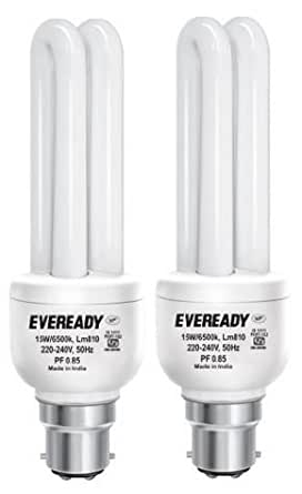 Eveready ELD 15-Watt CFL (White and Pack of 2)