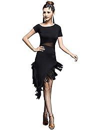 besbomig Sexy Nappa Vestito da Ballo Latino Donna Festa Competizione  Dancewear - Ballroom Salsa Samba Tango 2e1b076274e