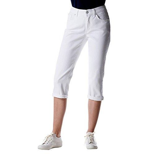 Angels Stretch Jeans (Angels Art. 81 Form 575 Cici Turn Up Damen 3/4-Jeans in 5-Pocket-Form Stretch, Groesse 44, weiß Denim)