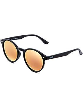 Gafas de sol TWIG POLLOCK redondo espejo hombre/mujer (Negro/Rosa)