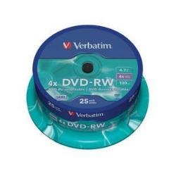 DVD-RW Verbatim 4, 7GB 25PCs Jew DL-Plus 4x
