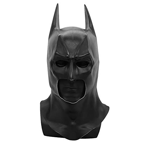 NANLAI Batman Maske Latex Maske Schwarz für Party Cosplay ()
