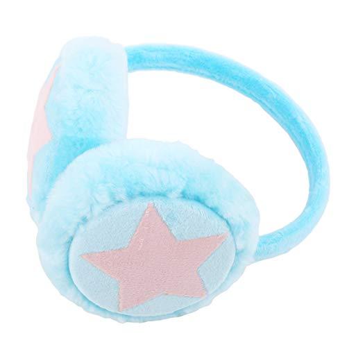 Hengxing Winter Kinder kalte warme Ohrenschützer süße Farbe fünfzackigen Stern Wilden Plüsch Ohrenschützer Ohrenschützer